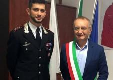 Valvonca. Gemmano. Il sindaco Riziero Santi ha incontrato il nuovo capitano dei Carabinieri di Riccione Marco Califano.