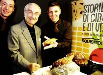 Rimini. San Patrignano. Il maestro Gualtiero Marchesi padrino del panettone al cioccolato.