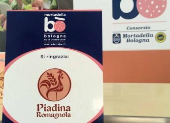 Rimini. Matrimonio tra Romagna ed Emilia. La piadina romagnola Igp protagonista a 'Mortadella Bo'.