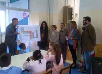 Rimini. 'Rimini scuola sostenibile': consegnate le piantine delle scuole Ferrari agli alunni per progettare i nuovi spazi verdi dell'istituto.