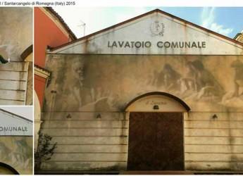 Santarcangelo. Eron consegna alla città l'opera muraria 'Soul of the waal' realizzata al Teatro Il Lavatoio.