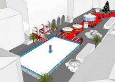 Rimini. Il centro si prepara ad ospitare il Rimini Christmas Square. Un mare di ghiaccio per un caldo Natale.