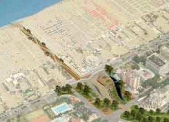 Rimini. Un nuovo accesso alla spiaggia da Piazzale Kennedy sul tratto finale dell'Ausa.