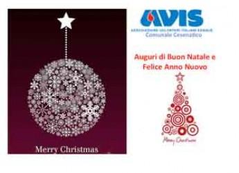 Cesenatico. L'Avis cittadina augura a tutti i cittadini un augurio di Buon Natale e felice anno nuovo.