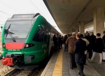 Bologna. Legambiente alla presentazione del primo dei nuovi 7 elettrotreni del trasporto regionale.