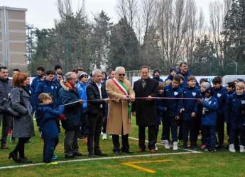 Misano Adriatico. Inaugurato il nuovo polo sportivo cittadino con la benedizione ai campi da calcio.