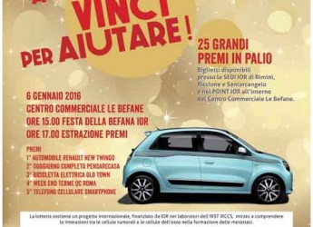 Rimini. Partita la XVI edizione della Lotteria IOR 'A Natale vinci per aiutare'.