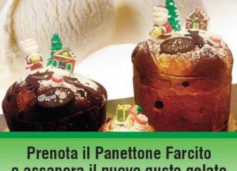 Italia. Milano. Rigoletto Gelato e Cioccolato in collaborazione con l'antica Pasticceria Cucchi propone il gelato al 'panettone'.