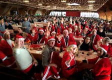 Rimini. San Patrignano. Un'armata di Babbi Natale in auto d'epoca per portare doni ai piccoli di San Patrignano.