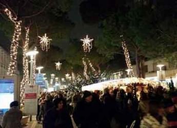 Milano Marittima. Nel Giardino degli Alberi di Natale artistici, tredici grandi abeti firmati da tredici artisti con differenti materiali e linguaggi.