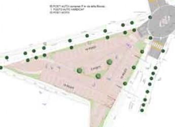 Santarcangelo. Doppio intervento al centro storico. Al lavoro al parcheggio dei Cappuccini e nuova pavimentazione per via Ruggeri.