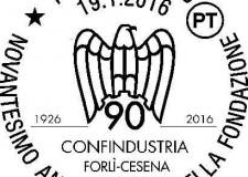 Forlì. Uno speciale annullo postale in occasione del novantesimo anniversario della Confindustria di Forlì-Cesena.