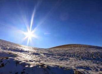 Carpegna. Un trekking invernale sulla vetta del monte Carpegna con l'associazione 'A passo d'uomo'.