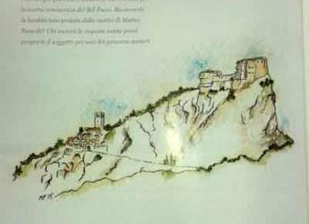 San Leo. Il mensile Bell'Italia 'disegna' l'antico borgo di San Leo.