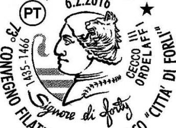Forlì. Uno speciale annullo postale in occasione del 73° convegno filatelico numismatico 'Città di Forlì'.