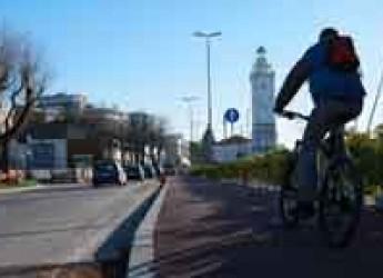 Rimini. Anello Verde: conclusi i primi 700 metri della pista ciclabile tra piazzale Boscovic e via Matteotti.