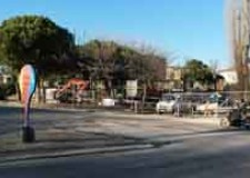 Rimini. Partiti oggi i lavori per la realizzazione del nuova rotatoria su via Bramante.