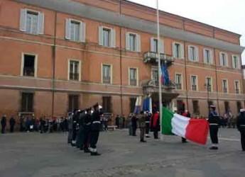 Ravenna. Celebrato oggi il 155° anniversario dell'Unità d'Italia, inno e bandiera.
