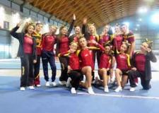 Rimini. Cheerleaders a confronto a Rimini Fiera per il campionato italiano. Sono 1.200 le atlete presenti.