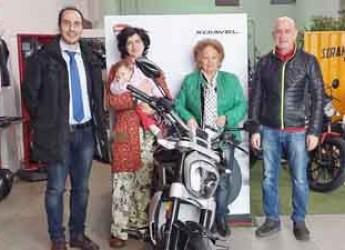 Sant'Agata sul Santerno. Imprese del territorio. Amministratori in visita a Moto Europa e alla Floricoltura Francesconi.