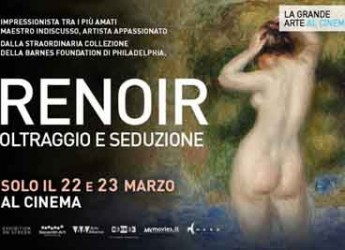 Riccione. Il tour cinematografico 'Renoir. Oltraggio e seduzione' sbarca al Cinepalace in esclusiva.