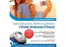 Riccione. Al mare in treno: viaggio gratuito sulle Frecce per chi sceglie gli hotel di Riccione, Rimini e Cattolica.