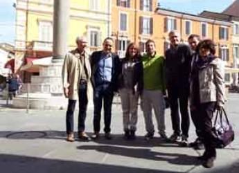 Ravenna. Dall'Argentina per un viaggio in bici. Brian e Magali fanno tappa in città.