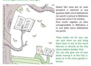 Cervia. Riprende il progetto 'Leggere all'ombra dei parchi'. Sono 4 le micro biblioteche installate in alcuni parchi cittadini.