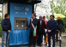 Sogliano. Inaugurata la sorgente urbana nel parcheggio di via Ugo la Malfa.