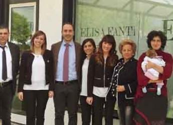Sant'Agata sul Santerno. Il sindaco visita la Elisa Fanti Srl, azienda di confezionamento e produzione di abbigliamento.