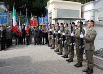 Lugo. Cerimonia con onori militari in memoria di Aurelio Baruzzi.