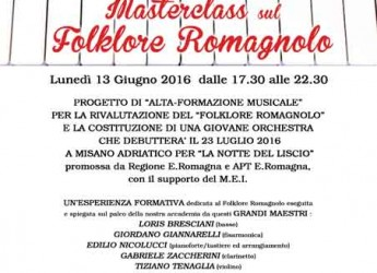Forlì. Alla Casascuola Music Academy la presentazione del primo Masterclass sul folklore romagnolo.