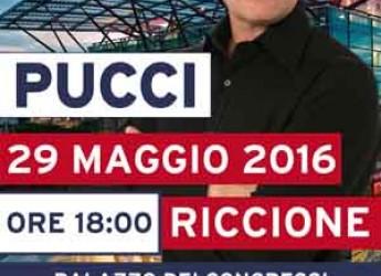 Riccione. Il comico Pucci apre la serie di spettacolo di cabaret al Palazzo dei Congressi.