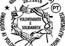 Alfonsine. Speciale annullo postale in omaggio alle associazioni di volontariato.