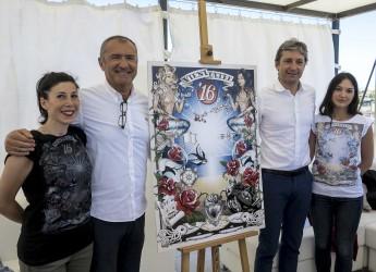Rimini. Il decano del racing design firma il manifesto balneare 2016. 15 giugno.