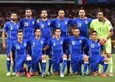 Forlì. Europei di calcio 2016. Piazza Saffi. Maxi schermo Italia vs Germania.