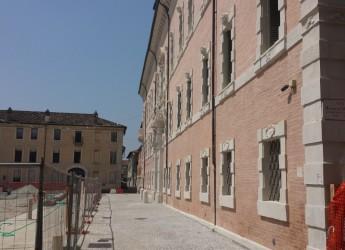 Ravenna. Piazza Kennedy. Apertura del passaggio di fronte a Palazzo Rasponi. Lunedì 27 giugno.