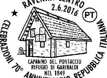Ravenna. Uno speciale annullo postale per le celebrazioni del 70° anniversario della Repubblica.
