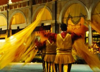 Faenza. Bandiere, trionfano i giovanissimi alfieri del rione Giallo.