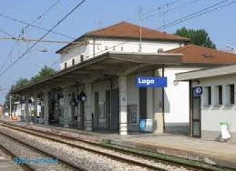 Lugo. Rotatoria della stazione. Cerimonia d'inaugurazione.