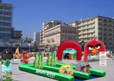 Riccione. Piazzale Roma. 'Il villaggio di Angry Birds'. Ponte del 2 giungo. Sold out.