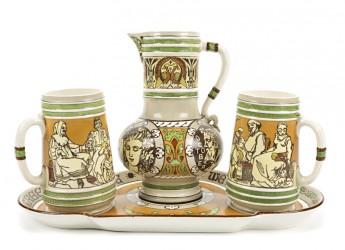 Faenza. Spettacolo comico 'Il bar del mare'. Ceramica  proveniente da nove musei.