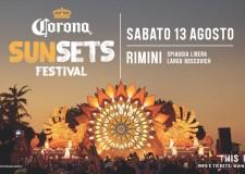 Rimini. 'Corona Sunsets Festival'. Secondo anno consecutivo.