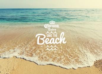 Rimini. Corona adotta una spiaggia riminese: 'Save the beach'. Luglio 2016.