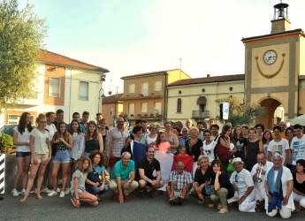 Sant'Agata sul Santerno. Delegazione francese in visita. Francesi in Romagna.