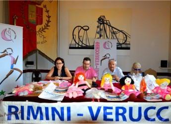 Verucchio. 33° edizione. La corsa della notte rosa. Luglio 2016.