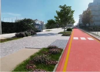 Riccione, approvato il progetto esecutivo della pista ciclopedonale di viale Veneto.