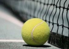 Il 'padrone di casa' Stefano Tarroni il torneo di tennis 'Dario Zavaglia'.