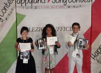 """Finale nazionale di """"Happyland Song Contest"""" a Lido Adriano.Sul podio la 'piccola grande' Tia Johnson."""