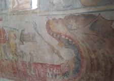 Belpaese. Artisti sulle vie del Giubileo: gli ancestrali affreschi della chiesa di San Bernardo di Andagna.